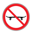 No skateboarding icon vector image