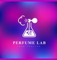 perfume lab logo vector image