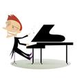 Pianist vector image vector image