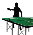 ping pong player silhouette eight vector image vector image