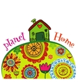 Planet home banner vector image