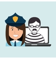 police criminal burglar design vector image