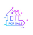 real estate icon design vector image