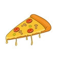 Salami pizza slice icon cartoon style vector image vector image