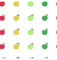 seamless pattern with cartoon colorful apples vector image vector image