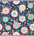 seamless vintage floral pattern vector image vector image