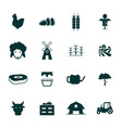 set agriculture icon logo concept template vector image
