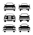 set of different car symbols front view vector image vector image