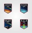 set space landscape planet logo premium vector image