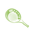 tennis outline silhouette symbol background vector image vector image