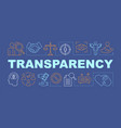 Transparency word concepts banner