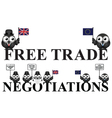United Kingdom Free Trade negotiations vector image vector image