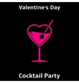 Valentines day cocktail party poster vector image vector image