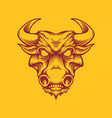 vintage strong bull head mascot isolated vector image