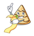 with menu crepe mascot cartoon style vector image vector image