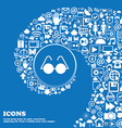 Glasses icon sign Nice set of beautiful icons vector image