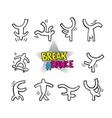 break dance dancing figures vector image