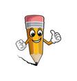 happy cartoon pencils isolated vector image