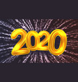 2020 happy new year party firework banner vector image vector image