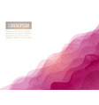 abstract background with pink waves hand drawn vector image vector image