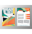 Abstract Brochure Template Business Triangle vector image vector image