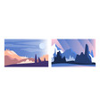 abstract mountain landscapes set serenity scenes vector image
