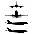 Airplane Black Silhouette vector image