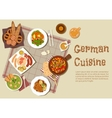 Authentic german meat dishes flat icon vector image vector image