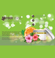 beautiful hydrating facial cream with tropic vector image vector image