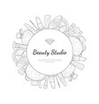 beauty salon monochrome banner template with place vector image vector image