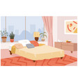 bedroom hygge home interior room design apartment vector image