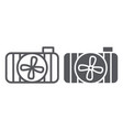car radiator line and glyph icon auto and part vector image