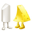 chalk and cheese characters vector image vector image