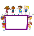 Children and frame vector image vector image