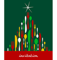 Christmas Tree Cutlery vector image