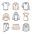 clothes flat icons vector image vector image