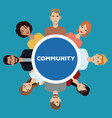 community people society social vector image