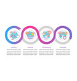 corporate policy infographic template vector image vector image