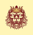 crowned lion style vintage vector image vector image