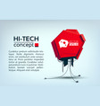 engineering futuristic design concept vector image