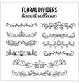 flourishes dividers set line style decoration vector image
