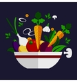 Fresh healthy vegetable cookery ingredients vector image vector image