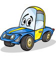 funny racing car cartoon vector image