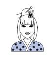 geisha japanese woman vector image vector image