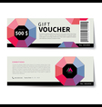 gift voucher discount template flat design vector image