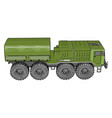 green military vehicle on white background vector image vector image