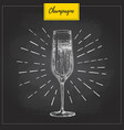 hand drawing champagne glass vector image