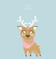 hand drawn of deer for merry c vector image vector image
