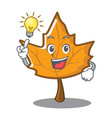 have an idea maple character cartoon style vector image