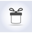 icon of present box vector image vector image